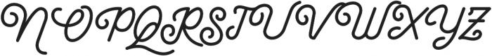 Maretha Script Regular otf (400) Font UPPERCASE