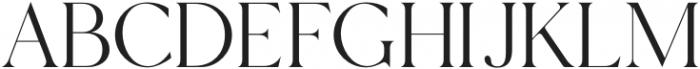 Margot-Regular otf (400) Font UPPERCASE
