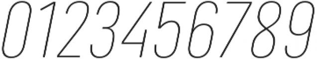 Marianina FY Thin Italic otf (100) Font OTHER CHARS