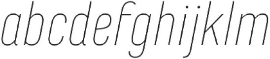 Marianina FY Thin Italic otf (100) Font LOWERCASE