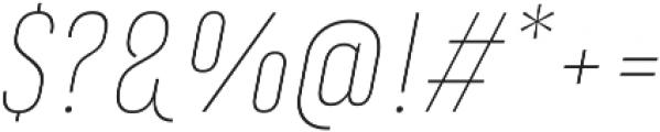 Marianina FY Thin Italic ttf (100) Font OTHER CHARS