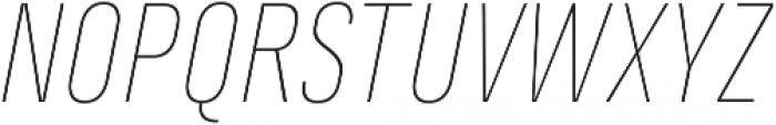 Marianina FY Thin Italic ttf (100) Font UPPERCASE