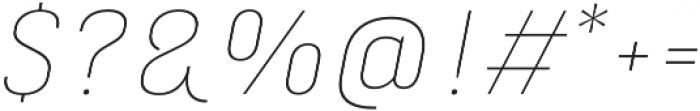 Marianina XWd FY Thin Italic otf (100) Font OTHER CHARS