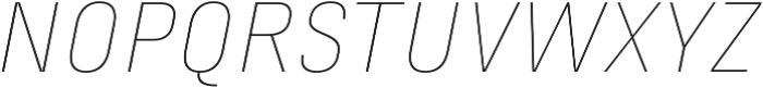 Marianina XWd FY Thin Italic otf (100) Font UPPERCASE