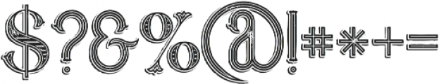 Marin Victorian Grunge otf (400) Font OTHER CHARS