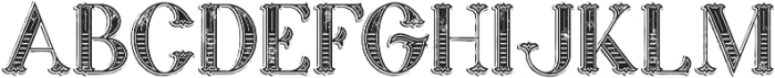 Marin Victorian Grunge otf (400) Font UPPERCASE