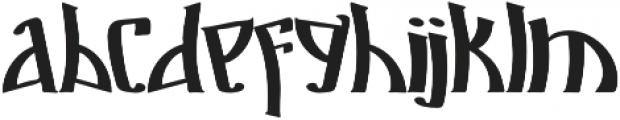 Markre otf (400) Font LOWERCASE