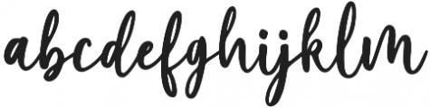 Marliesta Regular otf (400) Font LOWERCASE
