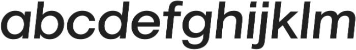 Marlin Geo SQ Slant Medium otf (500) Font LOWERCASE