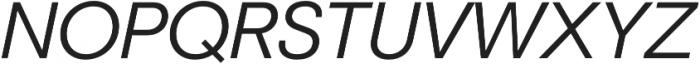 Marlin Geo Semi Light Italic otf (300) Font UPPERCASE
