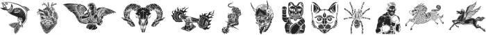 Marlton Extras 3 ttf (400) Font LOWERCASE