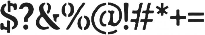 Marlton Stencil otf (400) Font OTHER CHARS