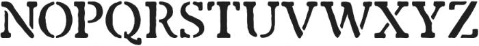 Marlton Stencil otf (400) Font UPPERCASE