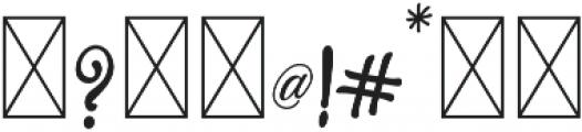 Marmia Regular otf (400) Font OTHER CHARS