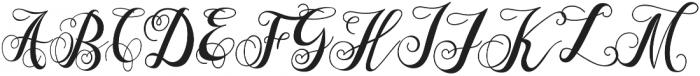 Marmia Regular otf (400) Font UPPERCASE