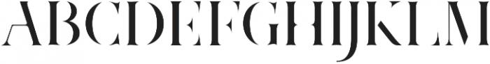 Marschel Stencil otf (400) Font UPPERCASE