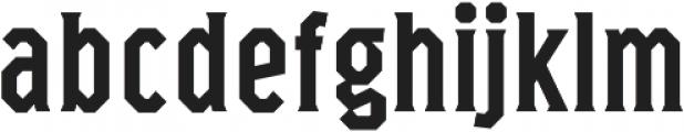 Marshal Condensed Regular otf (400) Font LOWERCASE