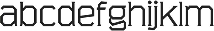 Marshal Extended Light otf (300) Font LOWERCASE