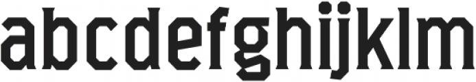 Marshal otf (400) Font LOWERCASE