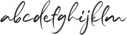 Marthiline Regular otf (400) Font LOWERCASE