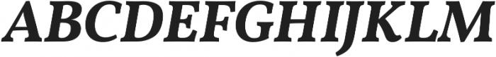 Martin SemiBold Italic otf (600) Font UPPERCASE