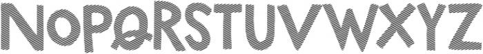 Marujo Striped otf (400) Font LOWERCASE