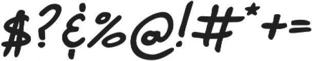 Marvaloha Bold Italic otf (700) Font OTHER CHARS