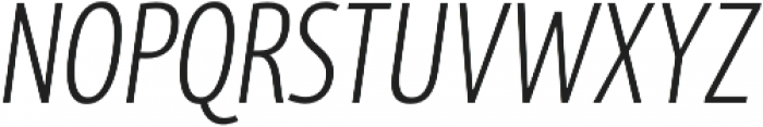 MaryTodd Light Italic otf (300) Font UPPERCASE