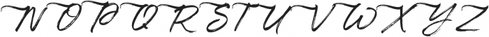 Maryland Alt Left Tail Slanted otf (400) Font UPPERCASE