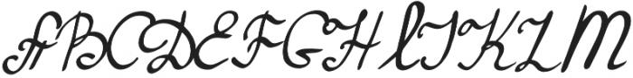 Maryna1 Regular otf (400) Font UPPERCASE