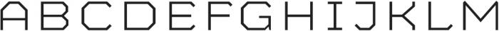 Mashine Extralight otf (200) Font UPPERCASE