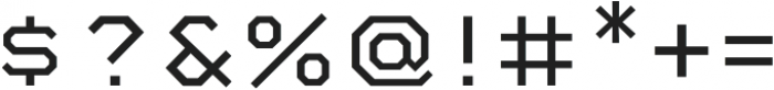 Mashine Light otf (300) Font OTHER CHARS