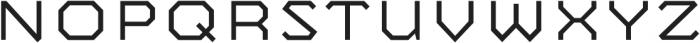 Mashine Light otf (300) Font UPPERCASE