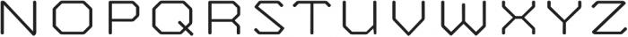 Mashine Rounded Extralight otf (200) Font UPPERCASE