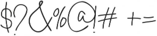 Massali otf (400) Font OTHER CHARS