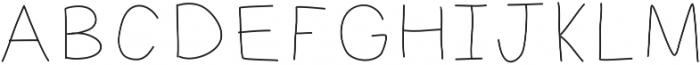 MastLight ttf (300) Font UPPERCASE