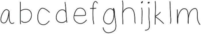 MastLight ttf (300) Font LOWERCASE