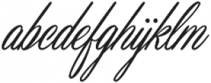 Masterics otf (400) Font LOWERCASE