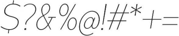 Matahari Condensed 100 Condensed Thin Oblique otf (100) Font OTHER CHARS