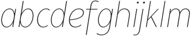 Matahari Condensed 100 Condensed Thin Oblique otf (100) Font LOWERCASE