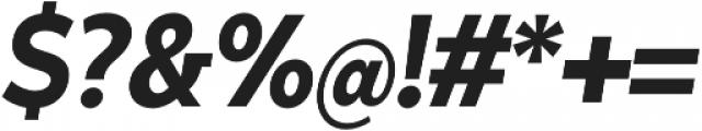 Matahari Condensed 800 Condensed ExtraBold Oblique otf (700) Font OTHER CHARS