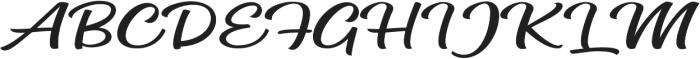 Mateo Script otf (400) Font UPPERCASE