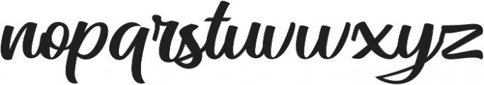 Mateo Script otf (400) Font LOWERCASE