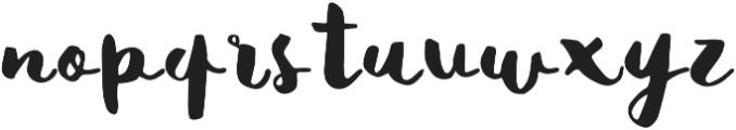 Matilda Regular otf (400) Font LOWERCASE