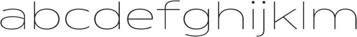 Matrice ExtraLight otf (200) Font LOWERCASE