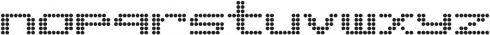 Matrix 8 otf (400) Font LOWERCASE