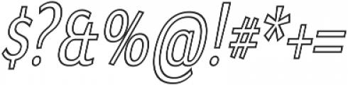 Matsuko Regular Outline Italic ttf (400) Font OTHER CHARS