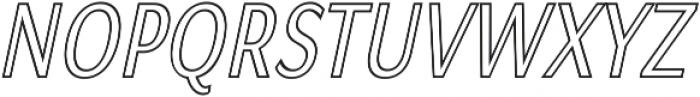 Matsuko Regular Outline Italic ttf (400) Font UPPERCASE