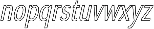 Matsuko Regular Outline Italic ttf (400) Font LOWERCASE
