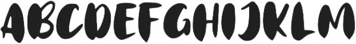 Matte Brush ttf (400) Font UPPERCASE